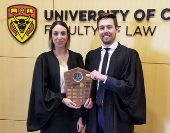 Student winners of a mooting competition